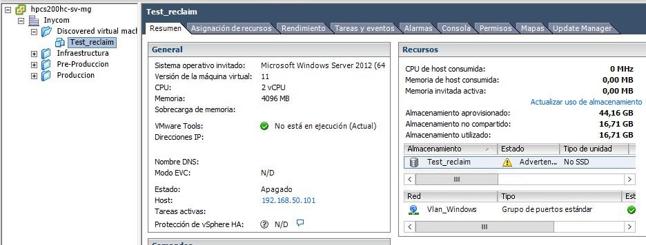 Cómo recuperar espacio no usado en VMware 6.0 - 2