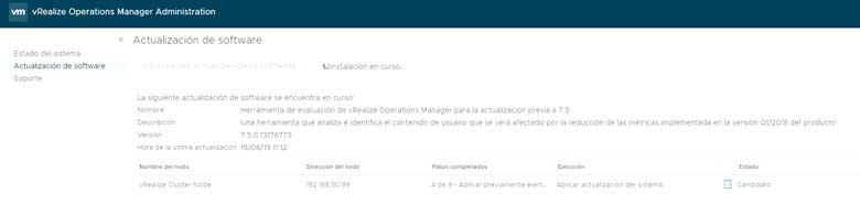Actualización vRealize Operations Manager 7.5 (Parte 1) 11