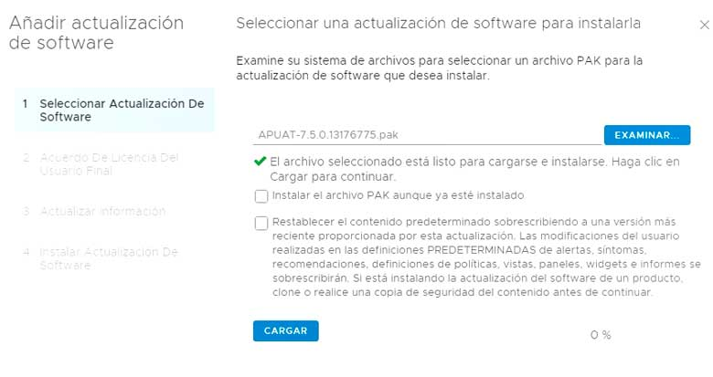 Actualización vRealize Operations Manager 7.5 (Parte 1) 6