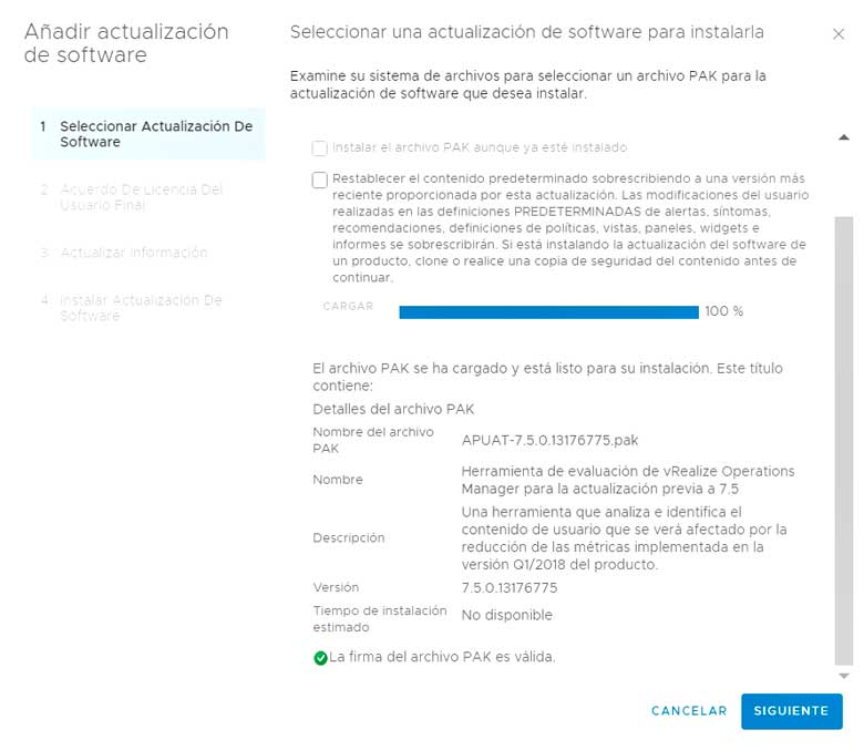 Actualización vRealize Operations Manager 7.5 (Parte 1) 7