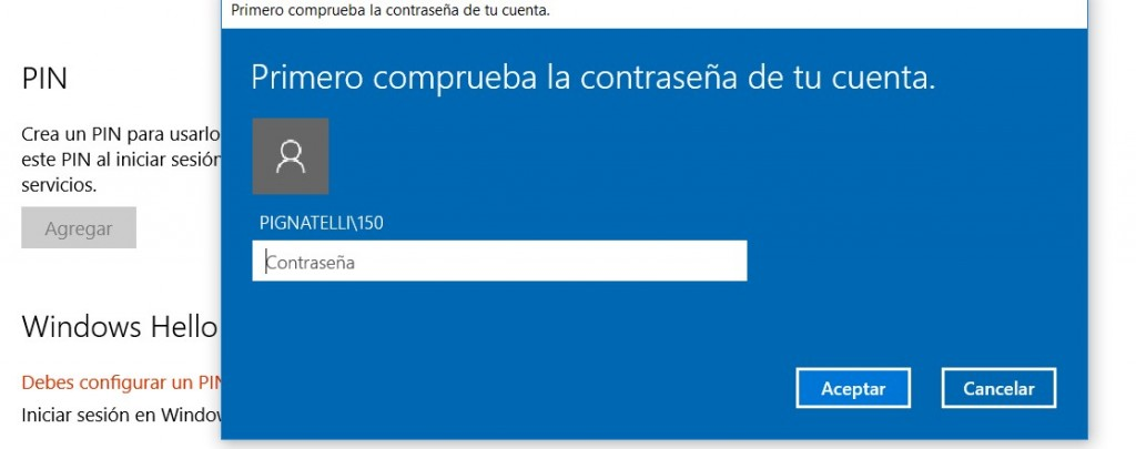 Windows 10 Hello Configurar PIN