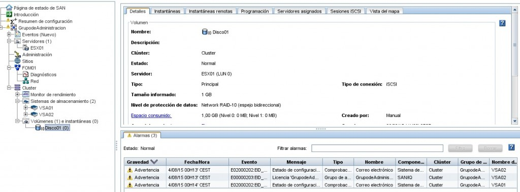 Instalación y configuración HP VSA. Avanzado.