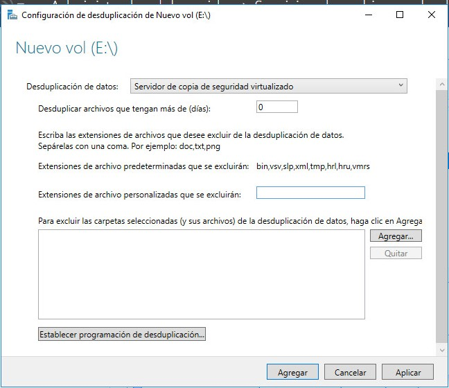 Instalación repositorio Deduplicado Windows 2016 para Veeam 3