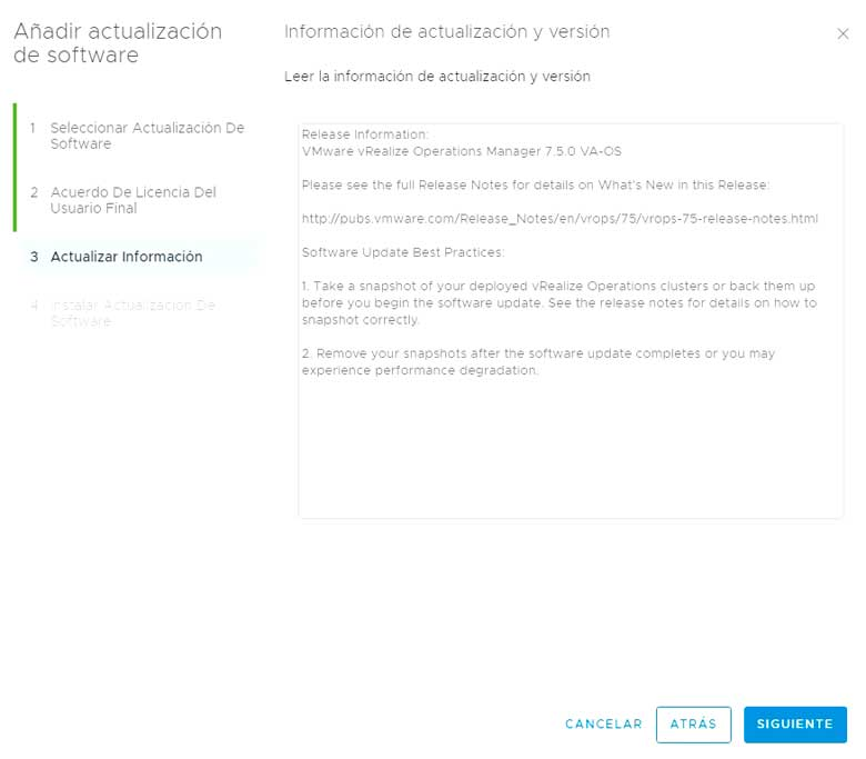 Actualización vRealize Operations Manager 7.5 (Parte 2) 6